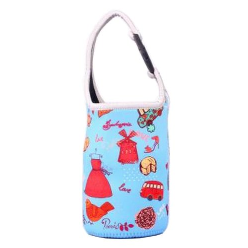 Lovely Baby Bottle Tote Bag Food Jar Tote Bag Insulated Lunch Box Bag Blue