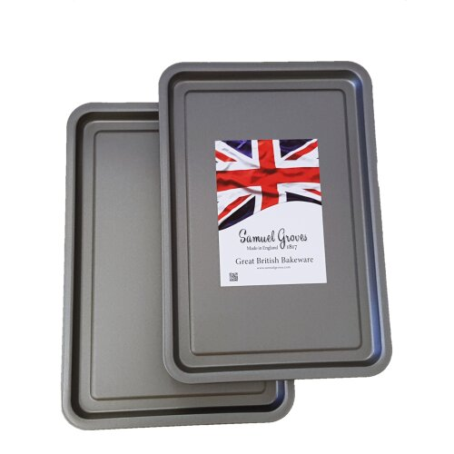 Large 37cm Non-Stick Roasting Pan /& Rack by Chabrias LTD Great British Bakeware Collection Samuel Groves