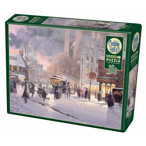 CBL80208 - Cobblehill Puzzles 1000 pc - Winter Flurry