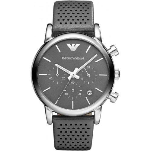 Emporio Armani AR1735 Watch Gray Leather Man