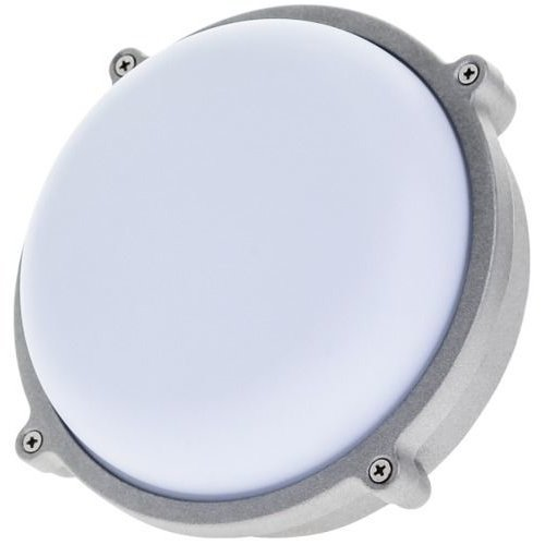 15 watt LED round outdoor bulkhead light 80% energy saving weatherproof Timeguard Night Eye LEDBHR15W