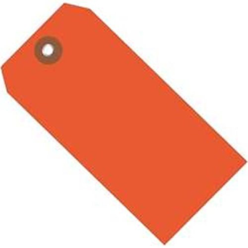 Box Partners G26060 6.25 x 3.12 in. Orange Plastic Shipping Tags - Pack of 100