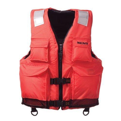 Kent Elite Dual Size Commercial Life Vest - Persons over 90-Pounds. (Orange, XX-Large/4X-Large, 50-60-Inch Chest)
