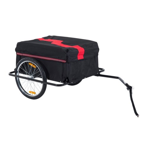 Homcom Folding Bike Trailer Cargo Storage Carrier (Red and Black)