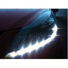 Vauxhall Corsa D Mk3  7/2006-8/2011 Black Drl Headlights Pair