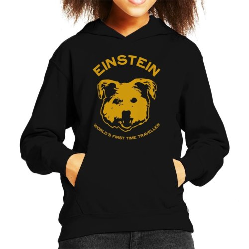 Einstein Time Traveller Back To The Future Kid's Hooded Sweatshirt