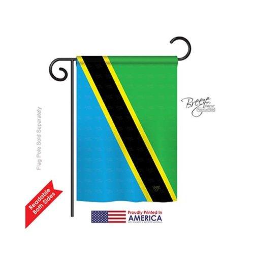 Breeze Decor 58363 Tanzania 2-Sided Impression Garden Flag - 13 x 18.5 in.