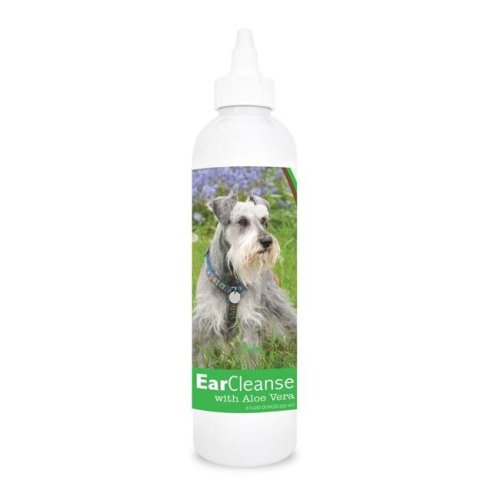Healthy Breeds 840235110989 8 oz Miniature Schnauzer Ear Cleanse with Aloe Vera Cucumber Melon