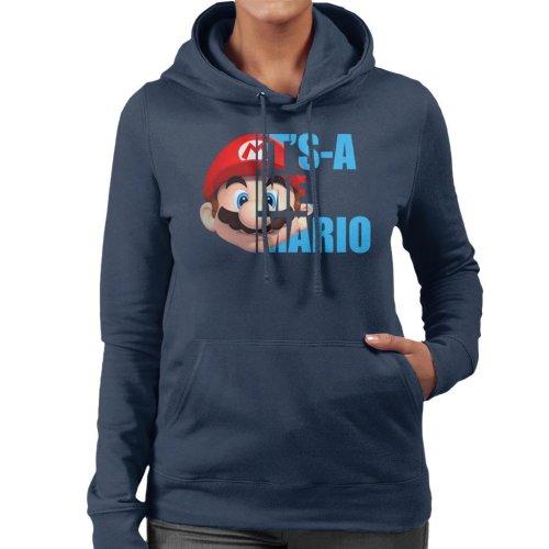 Super Mario Half Head Text Women's Hooded Sweatshirt
