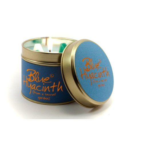 Lily Flame Candle in a Tin - Blue Hyacinth