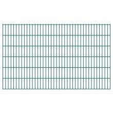 vidaXL 2D Garden Fence Panels 2008x1230 mm 28 m Green