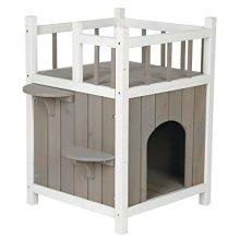 Trixie Natura Cat's Home Mit Balkon, 45 × 65 × 45 Cm, Grau/weiß - Cats Balcony -  trixie cats home balcony greywhite new