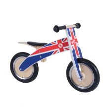 Kiddimoto Kids Kurve Wooden Balance Bike - Union Jack Design