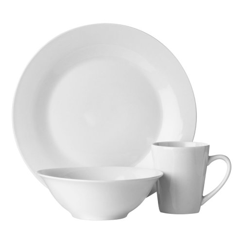 12pc White Dinner Set | Porcelain Dinnerware Set