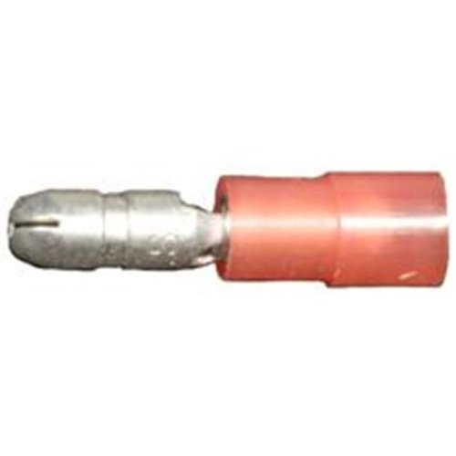 Morris Products 12052 Nylon Insulated Double Crimp Bullet Disconnects - 22-16 Wire,.157 Bullet, Pack Of 100
