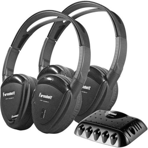 Power Acoustik HP-22IRT 2 Swivel Ear Pad Single Channel IR Wireless Headphones with Transmitter