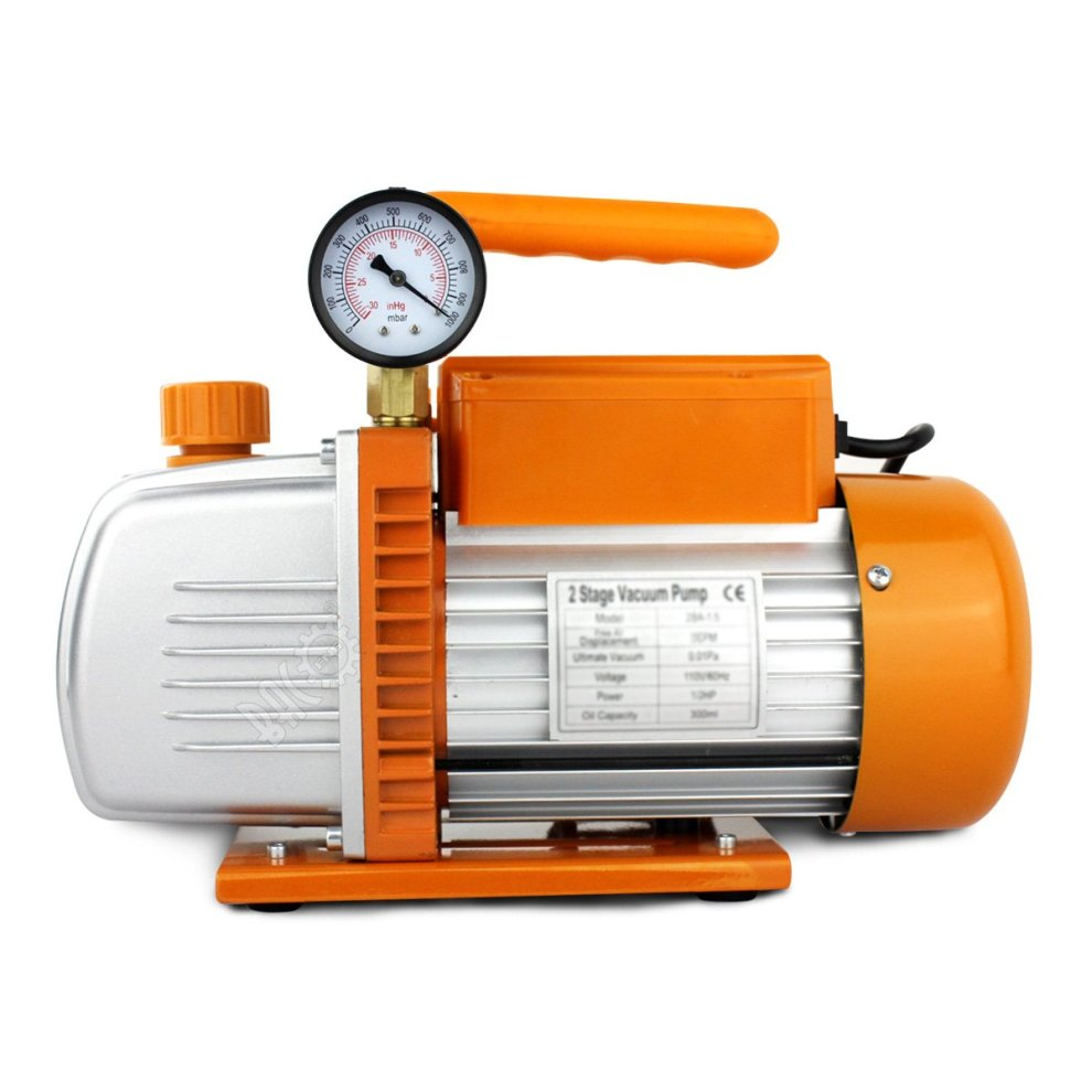 BACOENG 4 2 CFM 2 Stage Vacuum Pump for Air Conditioning, Degassing Casting  Resins, Silicones, Oils