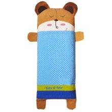 Bear Cartoon Pattern Cotton Small Pillow Case Soft Pillow Cover, Blue