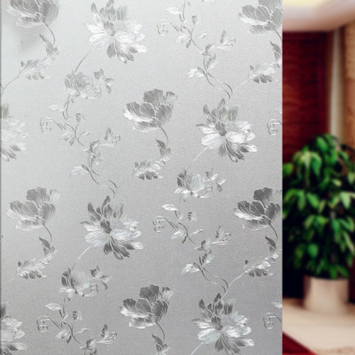 New 60 X 200CM Frosted Flower Glass Window Film Cover Privacy Bathroom Covering
