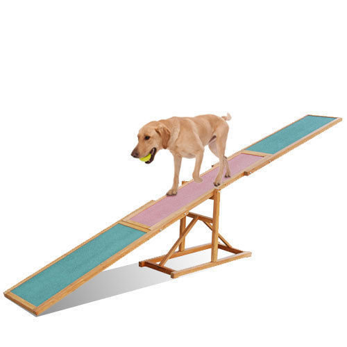 Dog Training Seesaw Pet Trainer Agility Equipment Wooden Outdoor Puppy