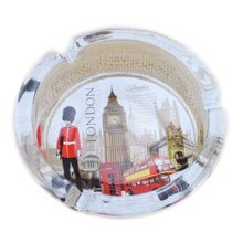 [London Scenery F]Creative Gifts Men's British Style Crystal Glass Ashtray