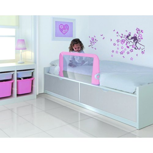 Lindam Toddler Easy Fit Pink - Bed Rail Guard