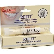 Dr Denti - Refit - Temporary Tooth Filling - 3 Capsules
