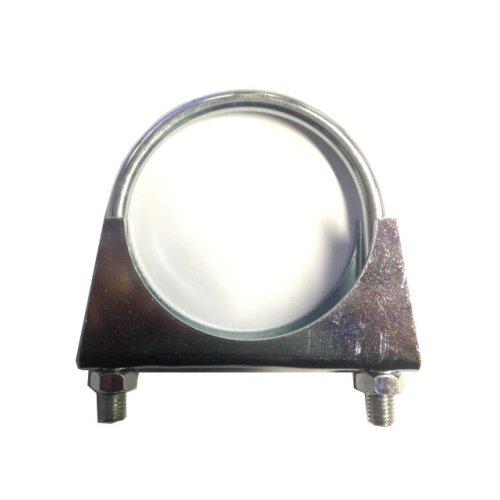 Universal Exhaust pipe clamp + U-bolt - 102 mm - BZP Mild Steel