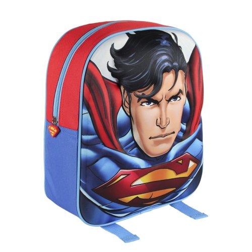 Superman 3D Design Blue Junior Backpack For Kids
