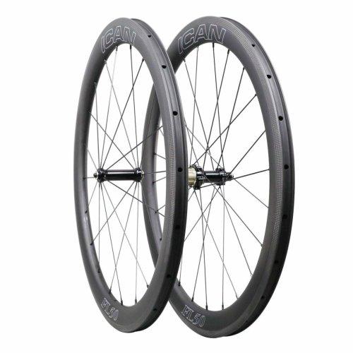 ICAN FL50 Carbon Clincher Road Bike Wheelset