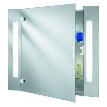Illuminated Bathroom Mirror Cabinet With Shaver Socket