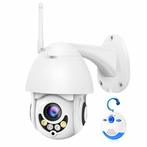 d7e362b884d Luowice PTZ Security Camera Outdoor HD 1080P WiFi Pan Tilt Zoom 5X Optical  60ft Color Night Vision Two-Way Audio IP66 Weatherproof Motion Detection...  on ...