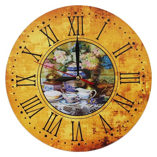 Obique Home Decoration MDF Romantic Decor Scene 28 cm Wall Clock