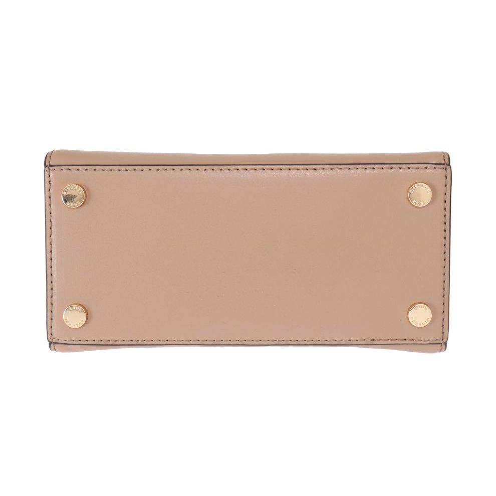ec5bddbf9861 ... Michael Kors Handbags Beige CAROLYN Leather Tote Bag - 4 ...