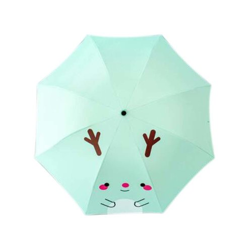 Sunscreen Sun And Rain Umbrella Anti-UV Lovely Folding Umbrella, Light Green