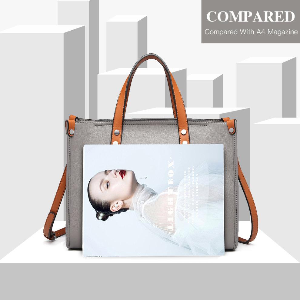 4393301a4b000 ... Miss Lulu Women Handbag Shoulder Bag Purse Set 2 Pieces - 8. >