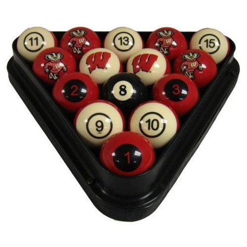 Wave7 UWIBBS100N University Of Wisconsin Billiard Numbered Ball Set