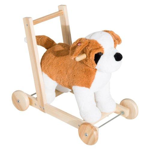 Homcom 3-in-1 Kids' Dog Walker   Musical Ride-On Dog