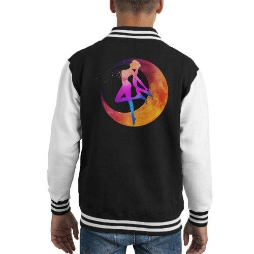 Sailor Moon Silhouette Multi Coloured Kid's Varsity Jacket