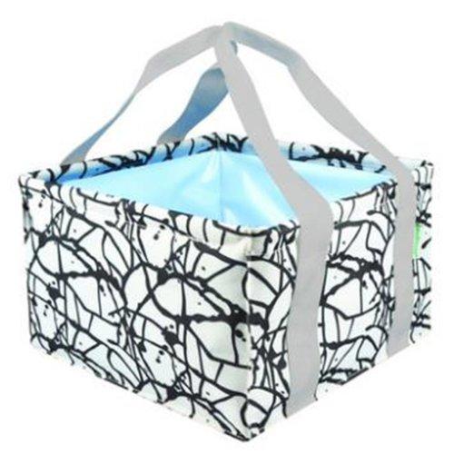 11L Portable Folding Wash Basin Leak-proof Foldable Bucket Footbath Basin, Rectangle #60