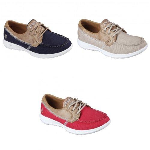 Skechers Womens/Ladies GOwalk Lite Coral Boat Shoes