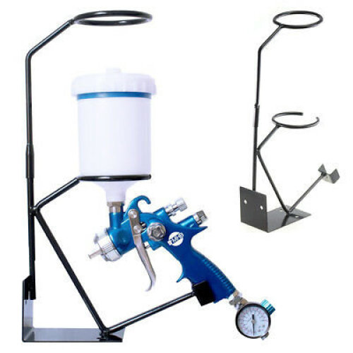 Gravity Bench Mounted Spray Gun Holder/Stand with Removable Filter Cradle