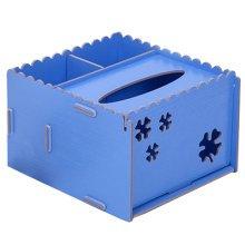 DIY Wooden Cosmetics Storage Box/tissue box/Stationery Holder,Light Blue