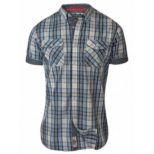 D555 Men's Fidel Regular Short Sleeve Check Shirt