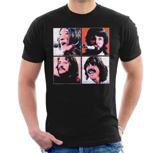 f80433314e90 Sidney Maurer Original Portrait Of The Beatles Let It Be Men s T-Shirt