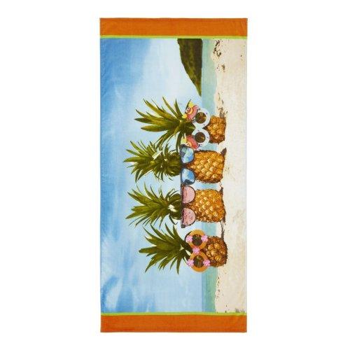 Catherine Lansfield Pineapple Beach Towel Multi