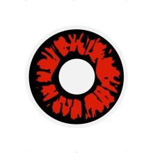 Red & Black Explosion Contact Lenses -