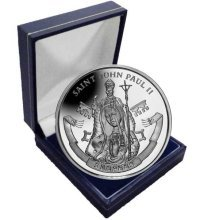 Seychelles 2014 Canonisation of His Holiness Pope John Paul II Unc. CuNi Coin in a box
