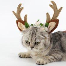 1 Pcs Adjustable Dog Cat Antlers Headband Headwrap Hair Hoop Pet Dress Up