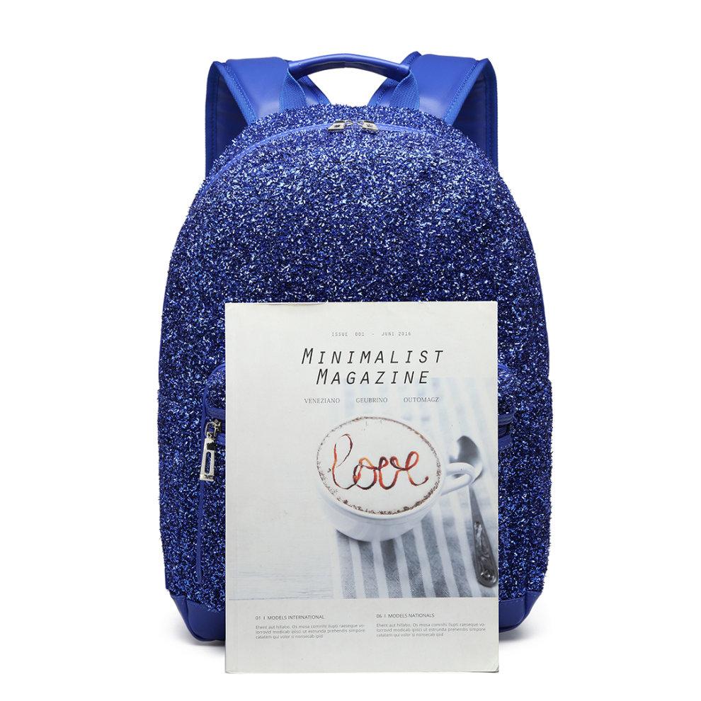 1a76a9831 ... Miss Lulu Women Glitter Backpack Girls School Bag Rucksack - 2 ...